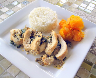 Quick Weeknight Dinner: Chicken Stuffed with Spinach and Mushrooms
