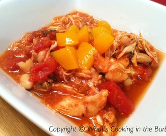Crock Pot Peach Mango Chicken Chili