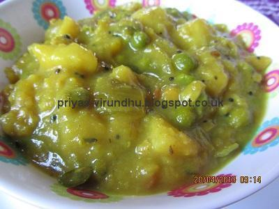 Potato Masala for Puris
