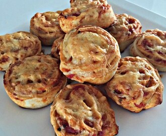 Mini pizza rolletjes
