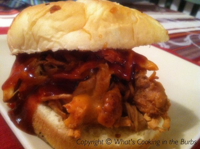 Slow Cooker BBQ Root Beer Chicken Sandwiches