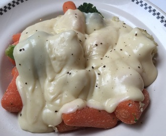 White sauce with vegetables