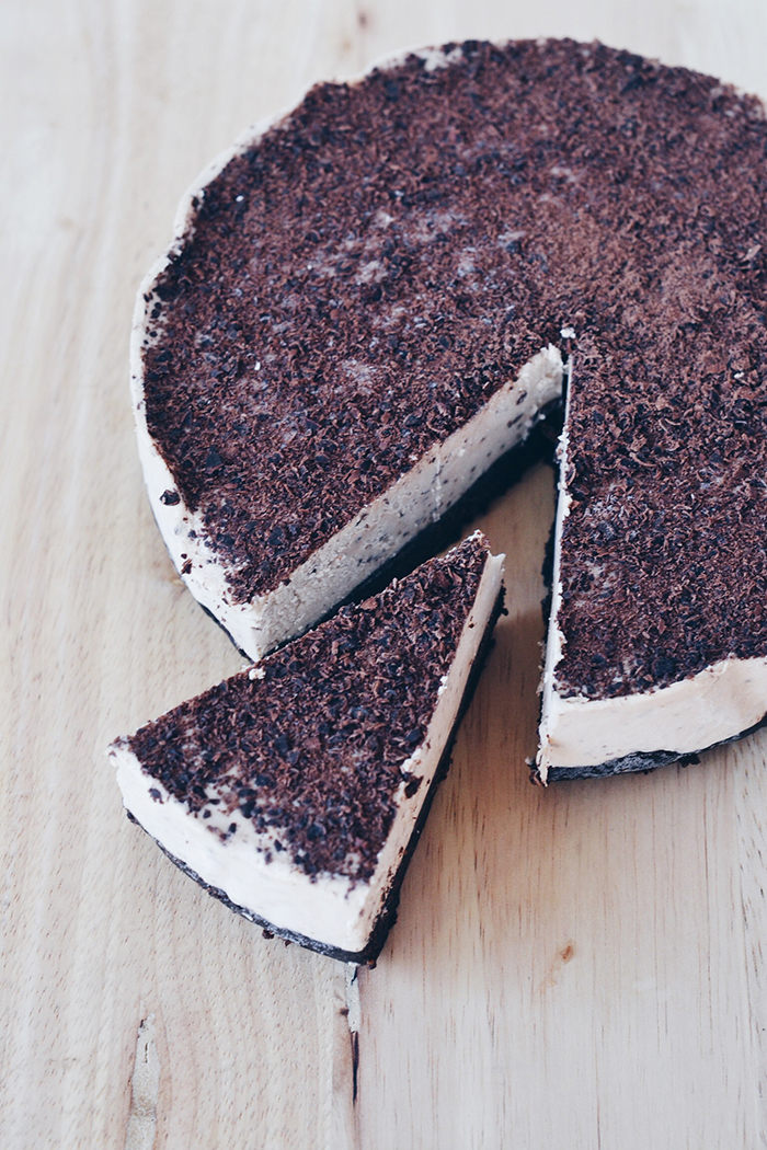 Vegan Irish Cream & Chocolate Cheesecake