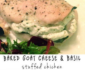 Recipe: Goat Cheese and Basil Stuffed Chicken