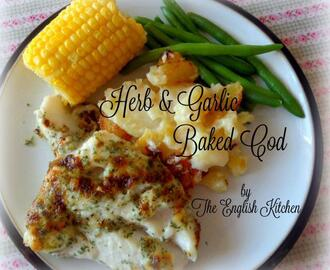 Baked Cod with Garlic and Herbs