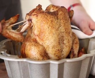 How to roast chicken in a bundt pan with the most delicious results