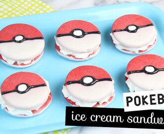 How to Make Pokeball Ice Cream Sandwiches! - YouTube