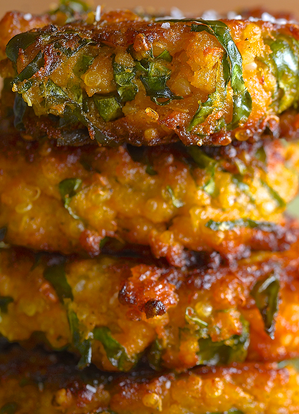 Sweet Potato Kale and Quinoa Fritters