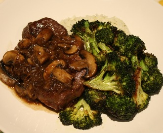 French Onion Soup Steak w/Roasted Broccoli