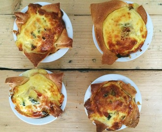 Mini-quiche met spek & courgette