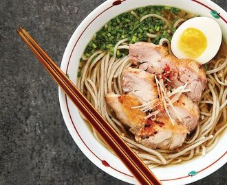 Hot Soba with Chicken and Egg Recipe | SAVEUR