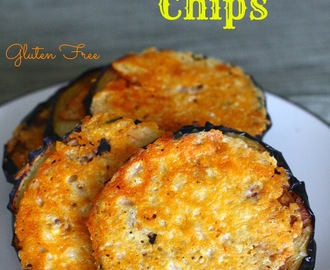 Gluten Free Frico Eggplant Chips