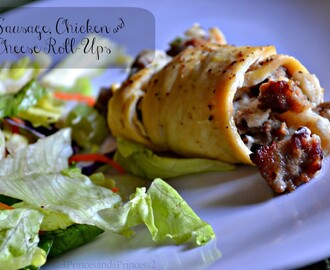 Sausage, Chicken and Cheese Roll-Ups #Recipe
