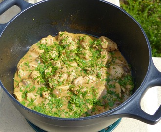 Poulet à la Guiness et à la Moutarde à l'Ancienne / Chicken cooked with Guiness Beer and grain mustard