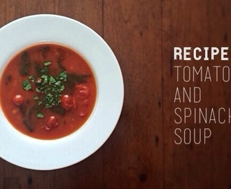 The best tomato and spinach soup recipe