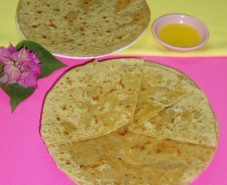 Burfi paratha recipe | Stuffed sweet paratha