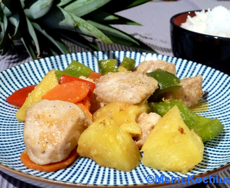 Hühnerbrust mit Ananas - chicken breast with pineapple - Ock Gai Sapparot