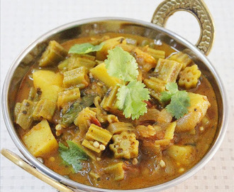 Ladies finger curry recipe (North Indian bhindi ki sabzi)