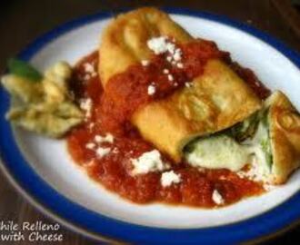 Chile Rellenos...Cheese Stuffed Poblano Peppers