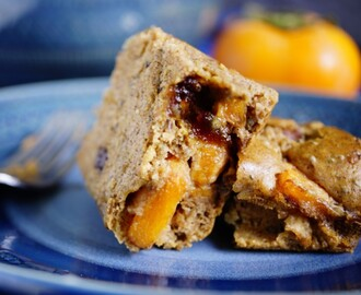 BANANA BREAD CAKE RECIPE WITH PERSIMMONS