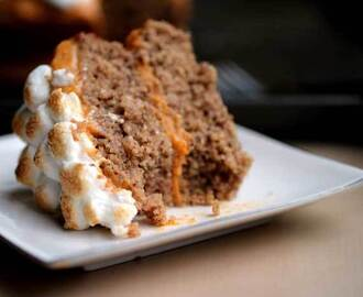 Pecan Cake with Sweet Potato Frosting