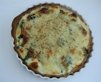 Broccoli quiche met mozzarella