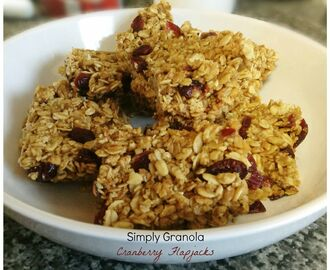 Simply Granola Cranberry Flapjacks