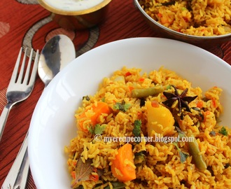 Chettinad Vegetable Biryani / Kaikari Biryani
