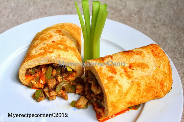 Indian Egg Rolls with Curried Chicken