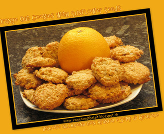 Orange Oat Drop Cookies with Sunflower Seeds – Biscotti all'Avena con Arancia e Semi di Girasole