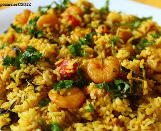 Chettinad Prawn Biryani/ Era Biryani Recipe.