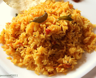 Authentic Tomato Rice/ Thakkali Sadam( Lunch Box Recipes)