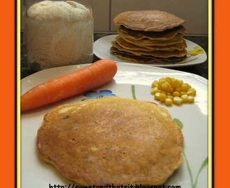 Sourdough Pancakes with Carrots and Corn - Pancakes di Pasta Madre con Carote e Mais