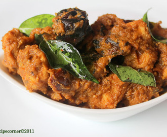 Chettinad Mutton Fry/ Aatu kari varuval.