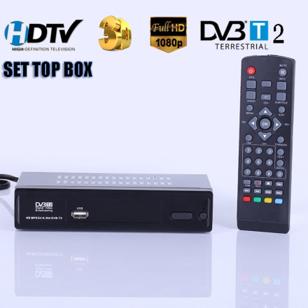 HD Digital Terrestrial Receive DVB-T2 Support MP3 MPEG4 Format Digital TV Box Universal TV Tuner TV Receiver DVBT2 Set Top Box