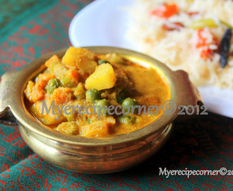 Hotel Vegetable Kurma/ Mixed Veg Korma.