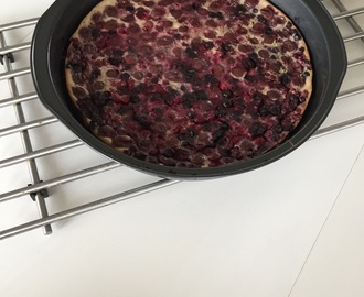 Rood fruit clafoutis
