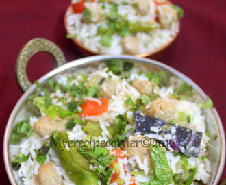 Soya Chunks Pulao/ Meal maker Pulao