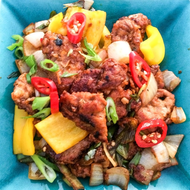 Crispy chilli pork 'takeaway'