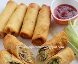 Vegetable spring rolls - Indian Chinese style