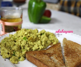 Healthy Masala Scrambled Eggs