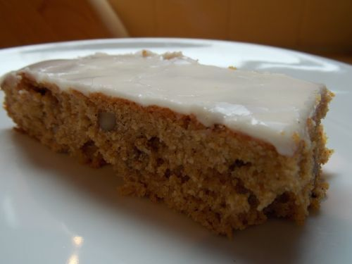 Iced Pumpkin and Orange Slice cake