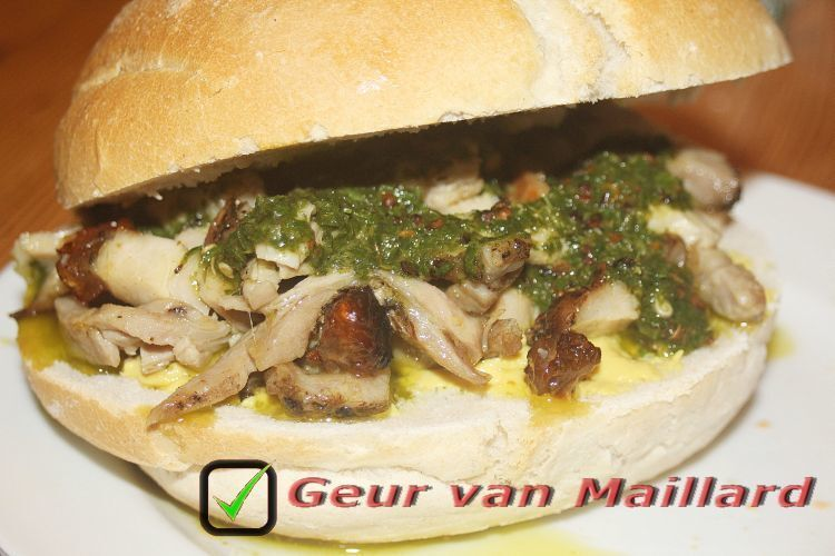 Broodje porchetta met salsa verde (#Foodybox)