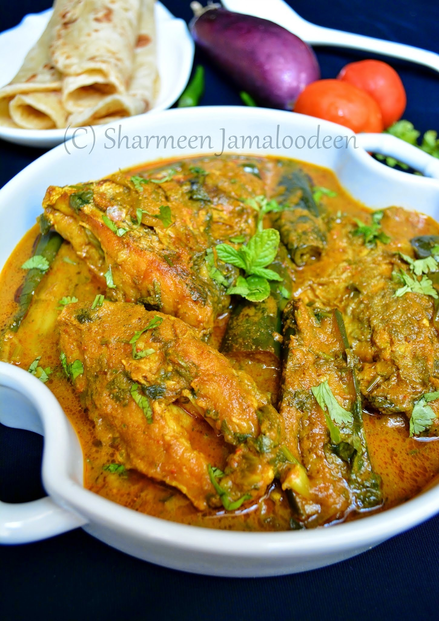 Fish and Aubergine Curry