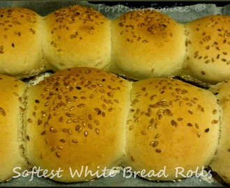 Softest White Bread Rolls - (includes Thermomix method)
