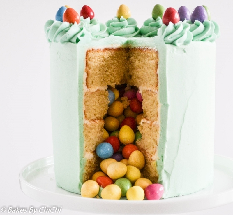 Mini Easter Eggs Vanilla Pinata Cake