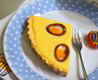 White Chocolate & Cadbury Creme Egg Tart