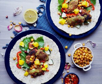 Taco-fredag utan kött eller kyckling! / Chia Wrap Taco with Fried Avocado and Roasted Chickpeas