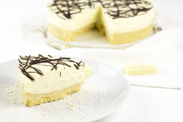 Witte chocolade cheesecake (zonder oven)