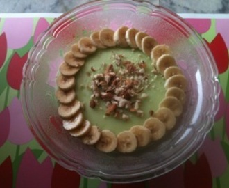 Banana Firni with Banana,and Almond Topping